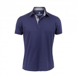 Polo Manches Courtes en coton Bleu Marine The Sailor