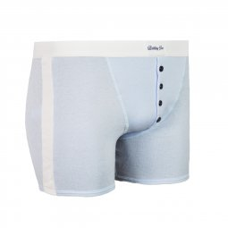 Boxer Made in France bleu clair à bandes blanches Carlos