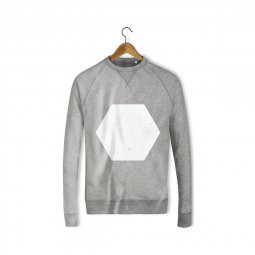 Sweat gris - Hexagone Blanc