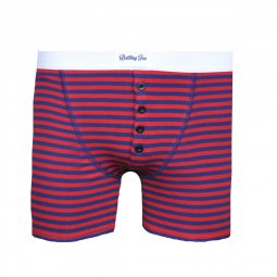 Quatuor boxers Made in France Marinière