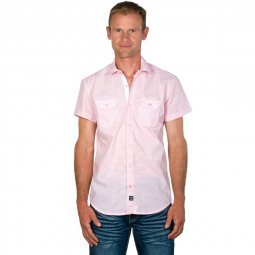 Chemise Homme Manches Courtes Vichy Rose