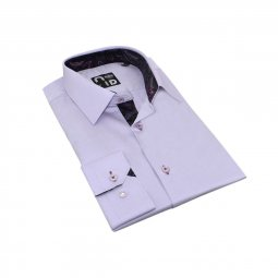 Chemise Coton Homme Lilas Tom
