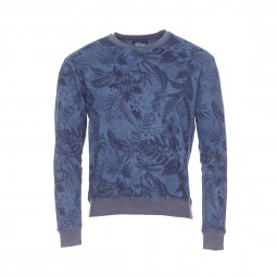 Sweat The Fresh Brand bleu indigo à fleurs bleu marine