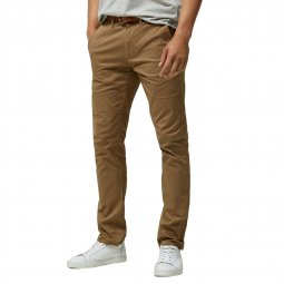 Pantalon chino Selected en coton stretch camel