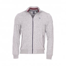Sweat zippé Nujgil TBS en maille gris chiné