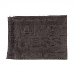 d945c2233b Portefeuille Guess en cuir noir monogrammé Guess Los Angeles ...
