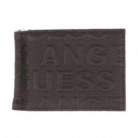 Portefeuille Guess En Cuir Noir Monogrammé Guess Los Angeles Rue