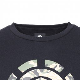 Sweat col rond Mimic Element en molleton noir floqué du logo