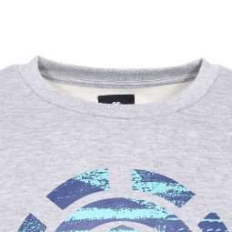 Sweat col rond Aeasthtic Element en molleton gris chiné floqué du logo