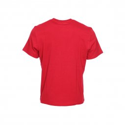 Tee-shirt col rond Vertical Element en coton rouge floqué