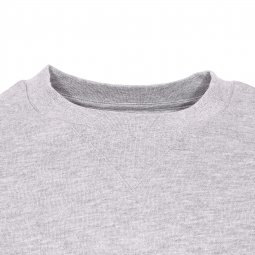 Sweat col rond Cornell Element en molleton gris chiné brodé