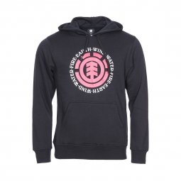 Sweat à capuche Seal Element en molleton noir floqué