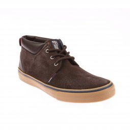 Baskets Hilfiger Denim en nubuck marron foncé