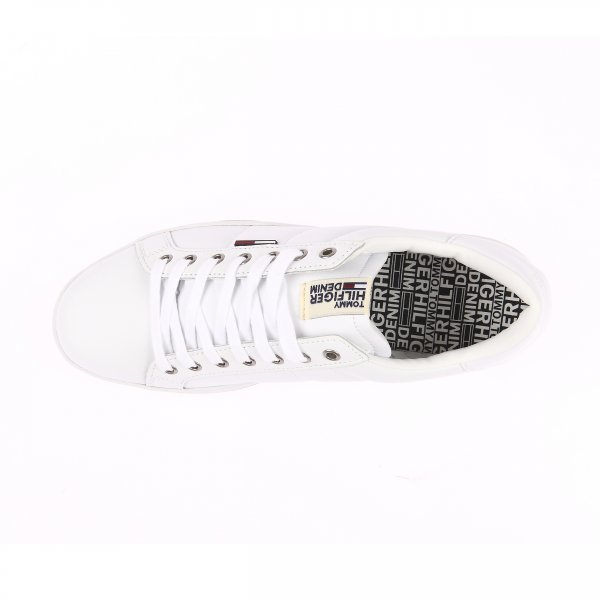 Baskets Hilfiger Denim blanches en cuir