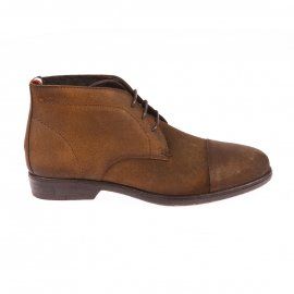 Bottines Hilfiger Denim en nubuck camel