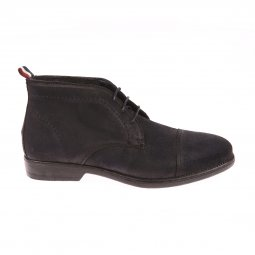 Bottines Hilfiger Denim en nubuck bleu marine