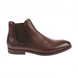 Bottines montantes Hilfiger Denim en cuir marron