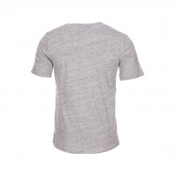 Tee-shirt col rond Minimum en coton gris clair chiné à imprimé poisson