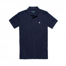 Polo Teddy Smith Junior Pilote en maille piquée bleu marine