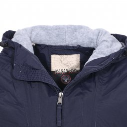 Veste imperméable Napapijri Rainforest Pocket bleu marine à doublure polaire grise