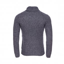 Pull col boule The Fresh Brand bleu marine chiné