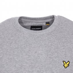 Sweat col rond Lyle & Scott en coton gris chiné