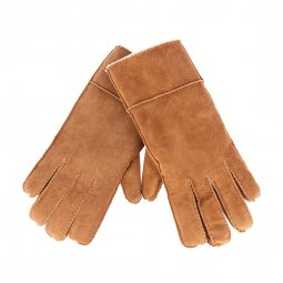 Gants Lee en cuir marron