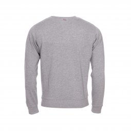 Sweat col rond Serge Blanco gris chiné