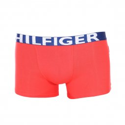 Lot de 2 boxers Tommy Hilfiger Junior en coton stretch rouge et bleu marine imprimé