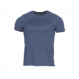 Tee-shirt col rond Teddy Smith Junior Tristan en coton mélangé bleu marine chiné