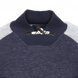 Sweat Teddy Smith Junior Sobeau en coton bleu marine chiné