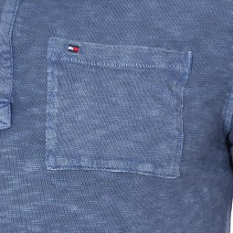 Polo manches longuesTommy Hilfiger Junior bleu indigo chiné