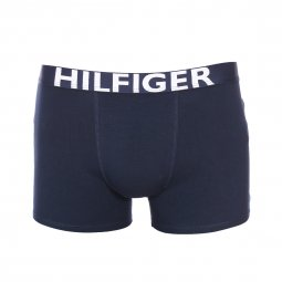 Lot de 2 boxers Tommy Hilfiger Junior en coton stretch bleu marine et bleu marine à étoiles rouges
