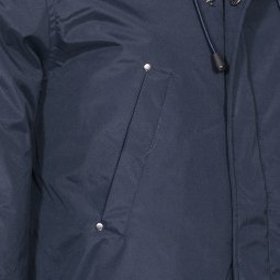 Parka à capuche The Fresh Brand bleu marine à fourrure amovible