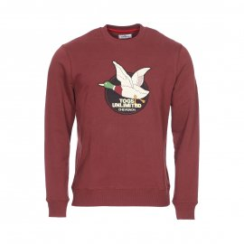 Sweat col rond Chevignon en coton bordeaux
