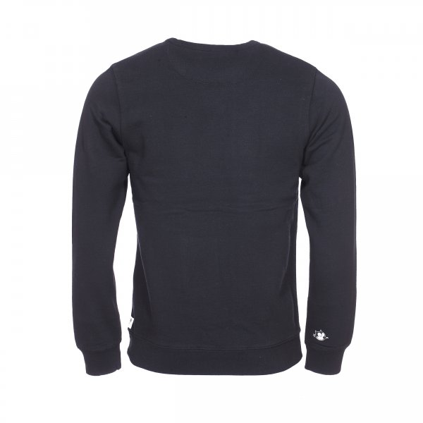 Sweat col rond Scotch & Soda en coton noir à imprimé Felix