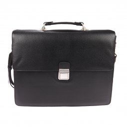Porte-documents Arthur & Aston en cuir noir