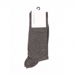 Chaussettes Selected gris chiné