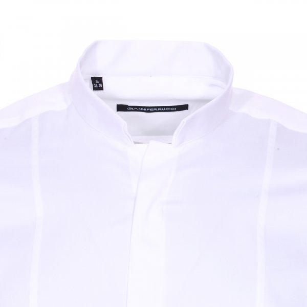 chemise cintr e gianni ferrucci en coton blanc col. Black Bedroom Furniture Sets. Home Design Ideas