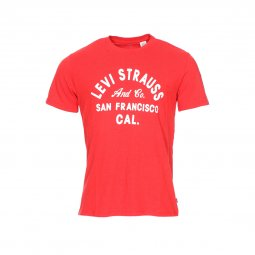 Tee-shirt col rond Levi's Graphic set-in neck 2 en coton rouge chiné