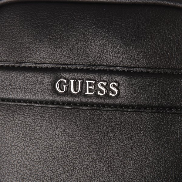 Sacoche Guess City Mini en simili-cuir noir