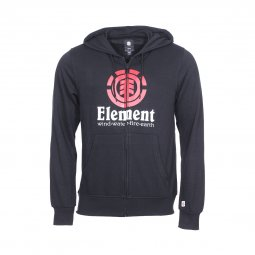 Sweat zippé à capuche Element Vertical noir floqué