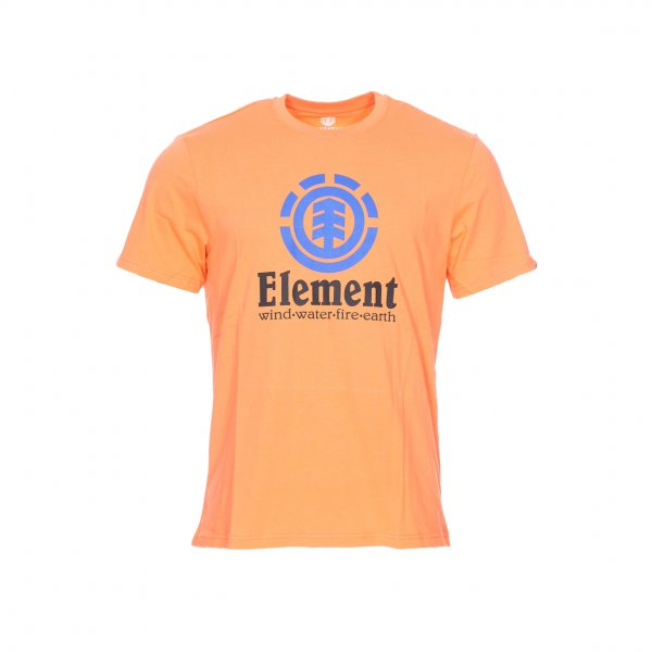 Tee-shirt col rond Element Vertical en coton orange floqué