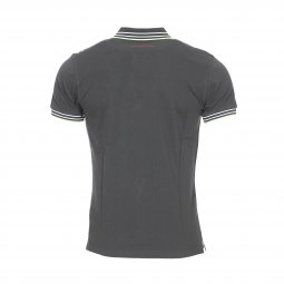 Polo Teddy Smith Pasian en coton gris anthracite