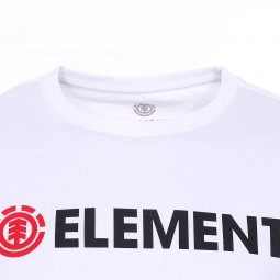 Tee-shirt col rond Element Junior Blazin en coton blanc floqué