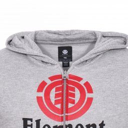 Sweat zippé à capuche Element Junior Vertical gris chiné