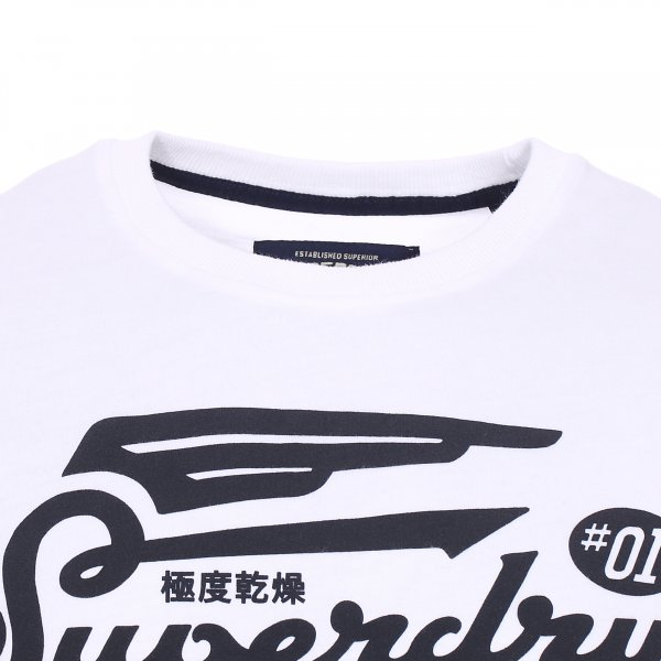 Tee-shirt col rond Superdry Retro High Flyers en coton blanc