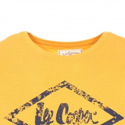 Tee-shirt col rond Lee Cooper Apash en coton orange  floqué