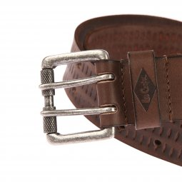 Ceinture Lee Cooper Stalk en cuir de buffle marron, boucle à double ardillon
