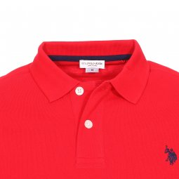 Polo U.S. Polo Assn. Institutional en piqué de coton rouge
